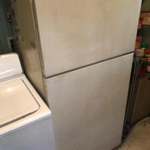 Photo of Lot 165K. Hotpoint refrigerator--$45