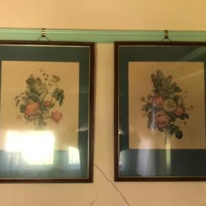 Photo of Lot 169K. Seven vintage botanical prints--$225