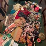 Lot 156DR. Huge collection of trims and ribbons--$195