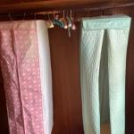 Lot 162B1. Two plastic closet storage dress bags and padded hangers--$10