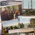 Lot 161S. Large assortment of vintage postcards from around the world- - $95