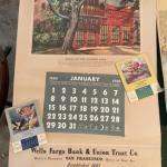 Lot 152DR. Vintage advertising calendars—two Wells Fargo 1950, small calendars