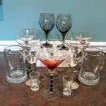 Lot 175: drinking glasses