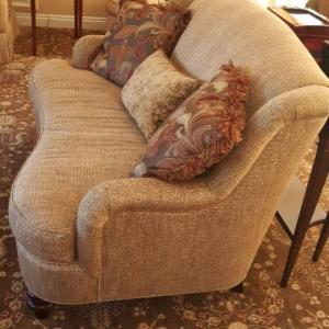 Photo of Lot: 196: Love seat and decorative pillows
