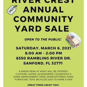 Photo of RIVER CREST COMMUNITY YARD SALE