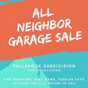 Photo of All Neighbor Garage Sale