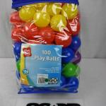 """Play Day 100 Play Balls, assorted colors, 2.5"""" diameter - New"""