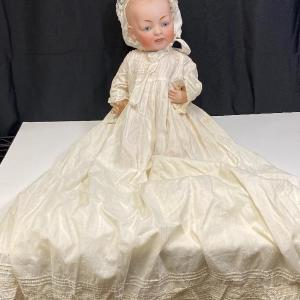 """Photo of 18"""" Antique Kestner Baby Doll in Christening Gown YD#020-1220-00856"""