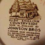 """"""" Olde English Countryside By Johnson Bros. England""""."""