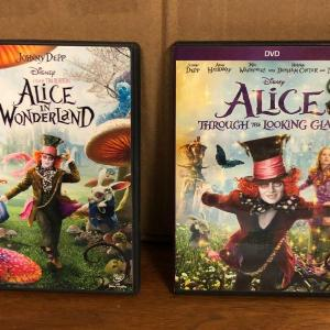 Photo of Disney Alice in Wonderland & Alice Through the Looking Glass Live Action DVD Mov