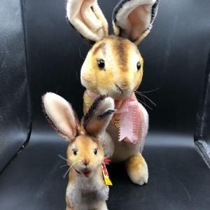 Photo of Two vintage Steiff Manni plush toys