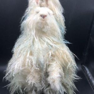 Photo of Long Haired Angora Style Jointed Rabbit Plush