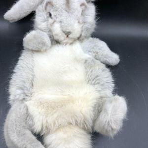 Photo of Super Cute Gray Plush Rabbit Bunny