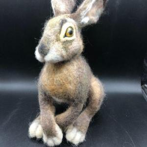 Photo of Needle Felted Hare Rabbit Bunny Realistic High Quality Plush