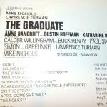 ": The Graduate "", Paul Simon original album. Dustin Hoffman."