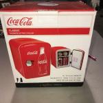 Coca-Cola Classic Portable 6 Can Thermoelectric Mini Fridge Cooler AC & DC Plugs