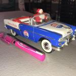 1994 Liberty Classics 1955 Chevrolet Convertible Diecast Pepsi wIth Santa (item