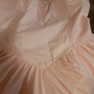 Photo of Short Lace party dress Pearl pink sz 12