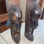 Pair Of Ebony Wood Makonde Tribal Figures From Tanzania