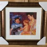 "MARY CASSATT ""Children Playing with Cat"" Lithograph and Frame. LOT A57"