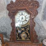 Beautiful Antique Gingerbread Mantle Clock In Very Good Working Condition