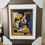 "JUAN GRIS ""A Violin and Glass"" Original Lithograph with Gallery Frame. LOT A"