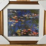 "CLAUDE MONET ""Waterlilies"" Framed Gallery Lithograph. LOT A54"