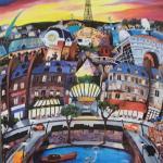 "PERGOLA ""April in Paris"" Original Lithograph and Frame. LOT A65"