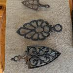 Three Vintage Cast Iron Trivets