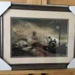 "LEYLA EMEKTAR LA ""The Last Passenger"" Original Lithograph and Frame. LOT A63"