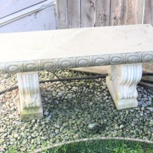 Photo of Lot 178 Cement Garden Bench