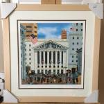 "JANE WOOSTER SCOTT ""Stock Exchange"" Hand Signed and Numbered Lithograph.  LO"