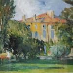 "PAUL CEZANNE """"The House at Jas De Bouffant"" Framed Lithograph. LOT A52"