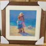 "LUCELLE RAAD ""Sunday Walk"" Lithograph and Gallery Frame. LOT A46"