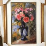 "PIERRE-AUGUSTE RENOIR ""Roses in a Blue Vase"" Gallery Framed Lithograph. LOT"