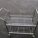 Lot 257 - Metal Rolling Cart With Basket