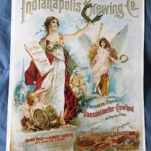 Photo of Vintage 11 x 15 Beer Poster INDIANAPOLIS BREWING Company