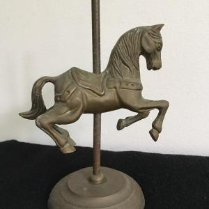 """Photo of Vintage Brass Carousel Statue 8""""h"""