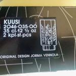 Lot 6  Kussi/ Spruce Design Jorma Vennola, Iittala Finland 1980s