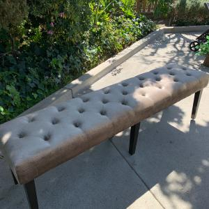 Photo of Button Tufted Bench Seat