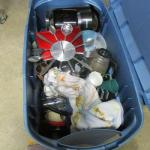 Lot 275 - Storage Container Of Kitchen Items & Microwave