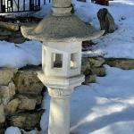 Concrete Pagoda bird feeder