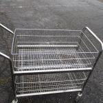 Lot 255 - Metal Rolling Cart With Baskets