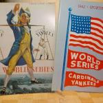 1941 and 1942 world series programs, Dodgers vs yankees and Cardinals vs Yankees
