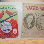 """ 1926 Cardinals vs Yankees & 1927 Yankees vs Pirates World Series Programs."""