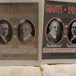 '1923 Yankees vs Giants & 1922 Giants Vs Yankees World Series Programs.