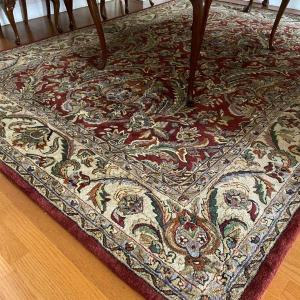 "Photo of Vintage Hand Knotted 8'6"" x 11'6"" Wool Carpet/ Rug"
