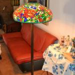 LOT 335 FAUX STAINED GLASS FLOOR LAMP