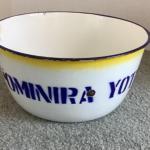 312 Vintage Ominira Yatomi Nigerian Enamelware Bowl