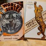 """ 1943 & 1944 World Series Baseball programs/ Detriot vs Cubs and Detriot vs St."